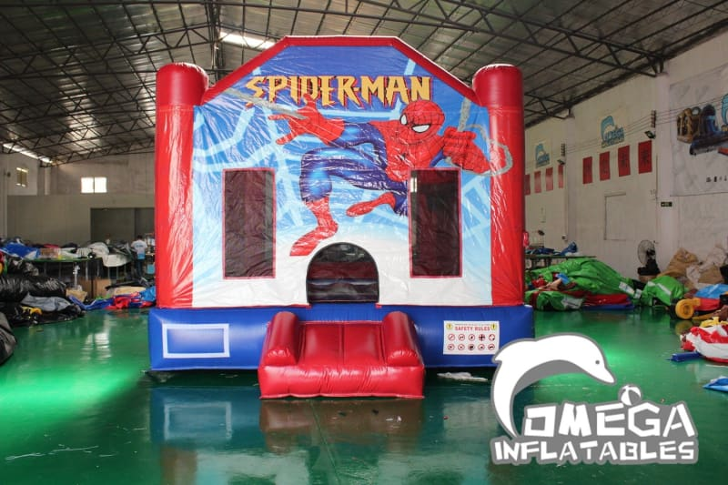 Spider Man Themed Inflatable Bounce House