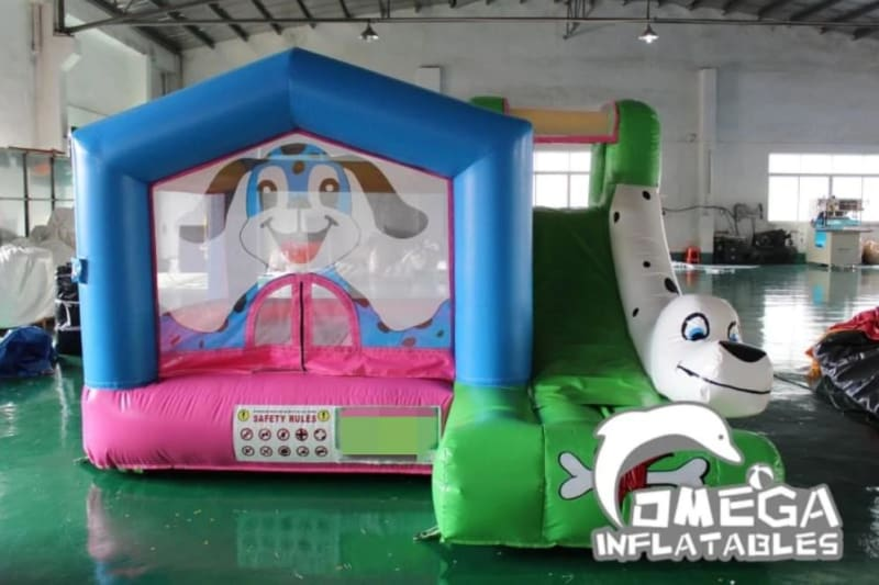Spotty Dog Inflatable Bouncy Castle with Slide