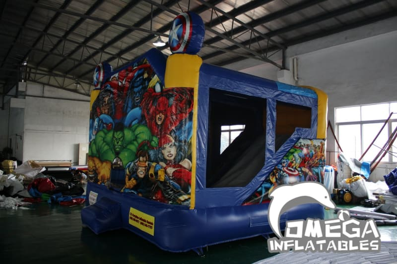Super Heroes Bounce House with Inside slide
