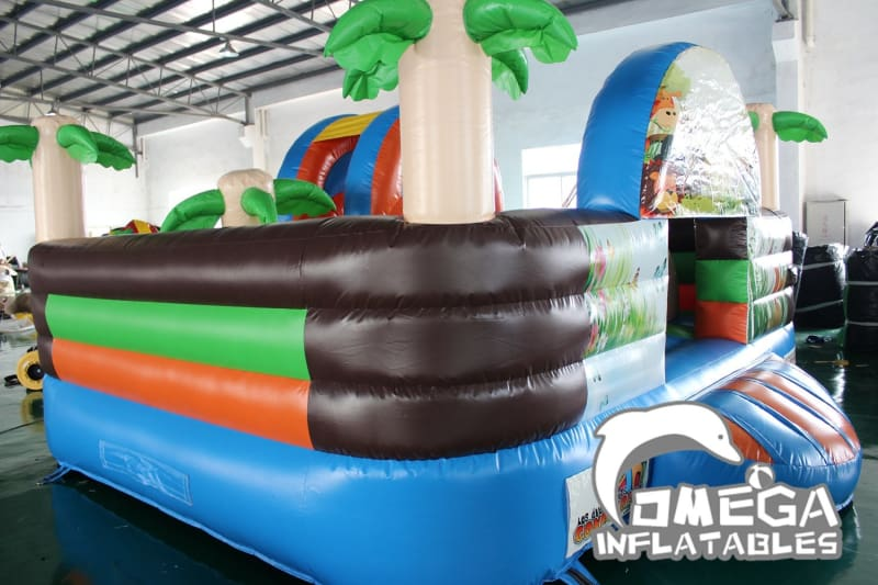 Tropical Palm Tree and Animals Inflatable Bouncy Castle