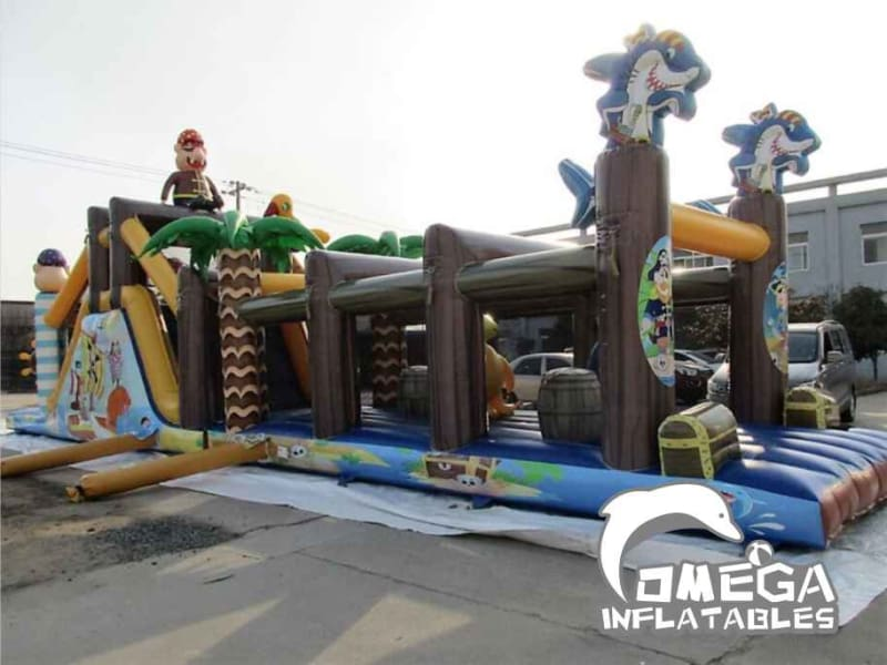 Tropical Pirate Treasure Island Obstacle Course