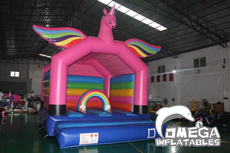 Unicorn Rainbow Bouncy Castle