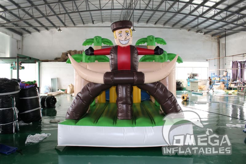 Western Cowboy Adventures Inflatable Obstacle Course