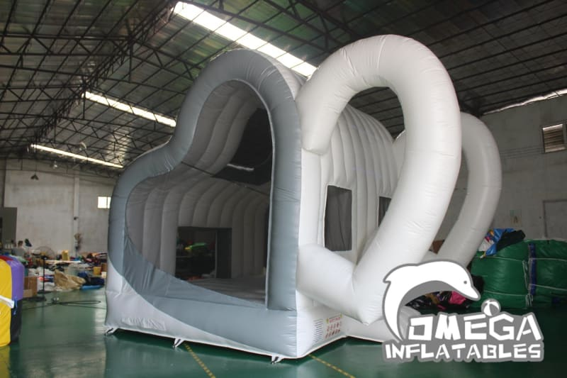White LOVE Bounce House