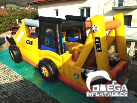 Inflatable Digger Backhole Obstacle Course