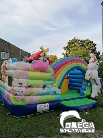 Inflatable Unicorn Kids Playland