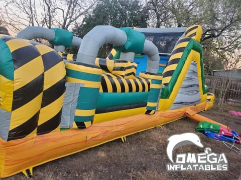 36FT Toxic Obstacle Course with Pool