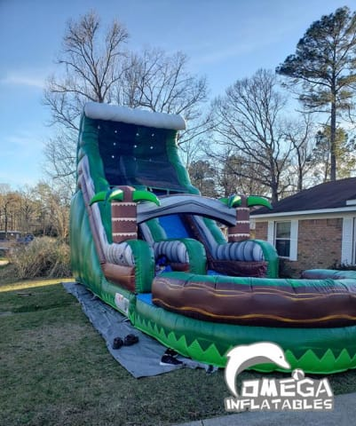 18FT Emerald Crush Tsunami Water Slide Inflatables for Sale
