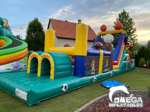 Sports Obstacle Course Castle