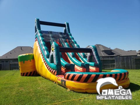 22FT Toxic Dual Lane Water Slide
