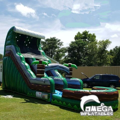 18FT Emerald Crush Tsunami Wet Dry Slide
