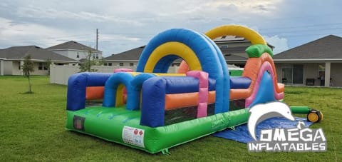 Mini Multi-Colored Inflatable Obstacle Course