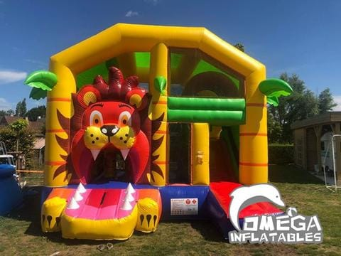 Inflatable Lion Combo with Roof