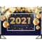 2021 New Year Party Backdrops Golden Christmas Ball Decoration Christmas Photography Background