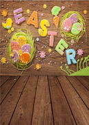 April spring backdrop Easter photo background for photography studio wood floor photo background vinyl