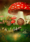 April spring mushroom backdrop Easter photo background for photography Alice in Wonderland photo background vinyl
