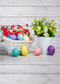 April backdrop Easter eggs photo background for photography wood floor photo background vinyl