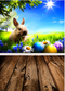 easter April spring backdrop Easter egg rabbit background for photography studio wooden floor child photo background vinyl