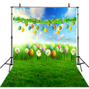 April backdrop Easter eggs photo background for photography spring green glass photo background vinyl