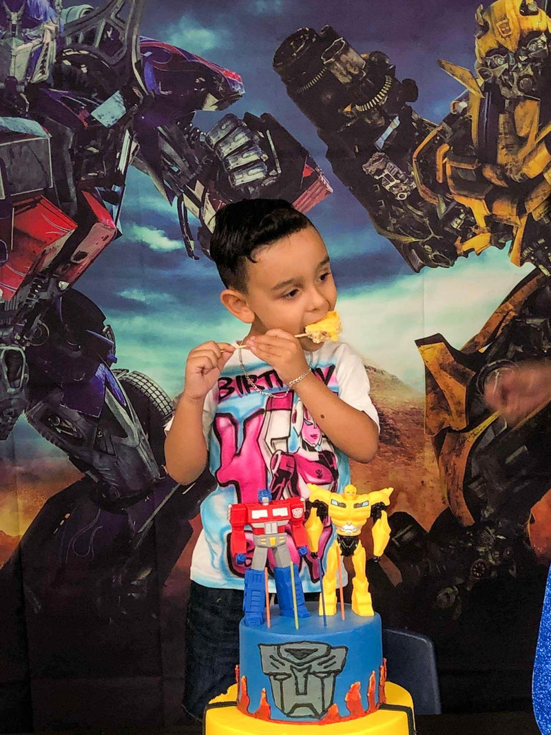 Transformers Photography Backdrops Cartoon Movie Robot Children Birthday Party Photography For Backdrop Digital Printed Photo Backgrounds