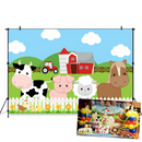 Animals Baby Shower Background Safari Birthday Party Decoration Banner Farm Cow Pig Horse Sheep Photo Backdrops Photography