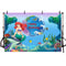 Ariel Mermaid background for photography under the sea backdrop for photo studio children birthday party decoration supplies