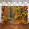 Autumn Landscape Photography Backgrounds Fall Forest Yellow Vinyl Photo Background Studio Photographic Backdrops Scene
