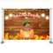 Fall Thanksgiving Birthday Party Halloween Photography One Little Pumpkin Is Turning One Wood Backdrops Autumn Maple leaf Photo Props