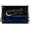 Twinkle Twinkle Little Star photography Backdrop Moon Baby Shower portrait background for photo studio Navy Blue Background Kids