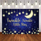 Twinkle Twinkle Little Star photography Backdrop Moon Baby Shower portrait background for photo studio Royal Blue Background Kid