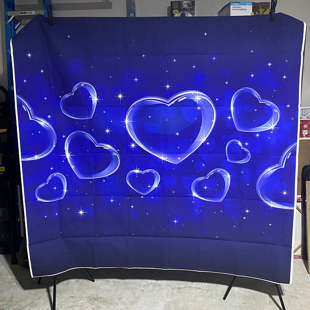 Blue Heart Backdrop Valentine's Day Photography Backdrop Birthday Party Photo Backdrop Newborn Kids Portrait Photo Background Props