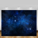 Newborn Dark Blue Starry Sky Backdrop Space Glitter Stars Baby Birthday Portrait Photography Background Photo Studio