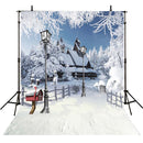 outside snow backdrop -snow village backdrop- snow white cottage -backdrop photo backdrop snow landscape- photo booth props christmas -photo booth props winter scenery -photography backdrops 8x10 snow -photography backdrops winter house