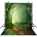 alice in wonderland photo backdrop 5x7ft vinly photography backgrounds enchanted forest for party butterfly photography backdrops trippy photo booth props trees photo backdrop elves photography backdrops nautical