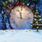 photo backdrop New year bell - clock photo backdrop -photo booth backdrop snow -photo backdrop celebrate -photography backdrops kids