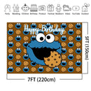 Cartoon Cookie Monsters Birthday Background Sesame Street Kid Children Birthday Party Banner Photography Backdrops Photo Booth