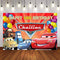 Cartoon Movie Characters Red Cars Photography Background Boys Birthday Party Decor Backdrop for Photo Studio Backdrop Photo Prop