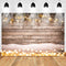 Christmas Backdrop Snowflake Gold Glitter Bokeh Wood Floor Photography Backdrop Xmas Champagne Wooden Background for Kids Portrait Photo Studio