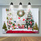 Christmas Background For Photography Trees Wood Wall Scene Wreath Backdrop For Photo Booth Family Party gifts Backgrounds
