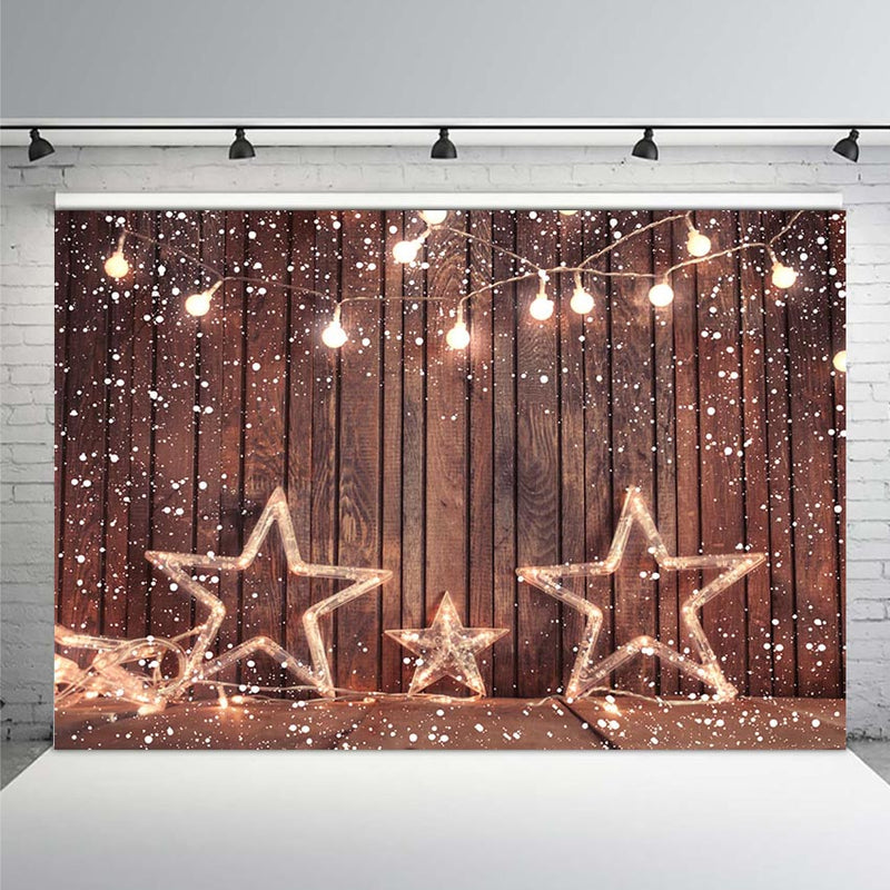Party New Year Snow Gifts Baby Children Photography Backgrounds Custom Photographic Backdrops for Photo Studio
