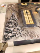Christmas Photography Backdrop Christmas Tree Photo Background Snow Winter Door Floor Photographic Backdrops Props