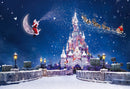Christmas Castle Backdrop Santa Claus Gift Photography Backdrops Winter Snow Children Backgrounds for Photo Studio