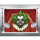 Circus Red Tent Backdrop Halloween Horror Clown Birthday Party Photo Background Activity Decorative Banner Photography Backdrops