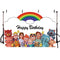 Cocomelon Family Themed Backdrops Children Kids Birthday Party Photo Background for Photography Decorations Banner Supplies