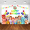 Cocomelon Theme Birthday Party Backdrop Kids Cocomelon Party Decoration Photo Booth Background for Photography Studio Supplies