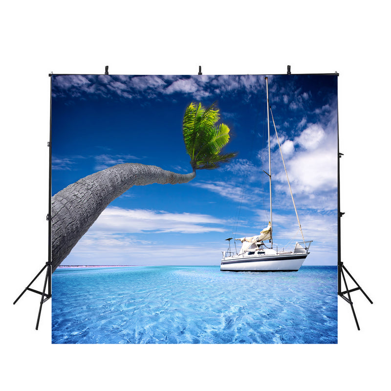 large beach photo backdrop hawaiian luau photo booth props ocean scene photo backdrop clouds background Cruise ship photography backdrops