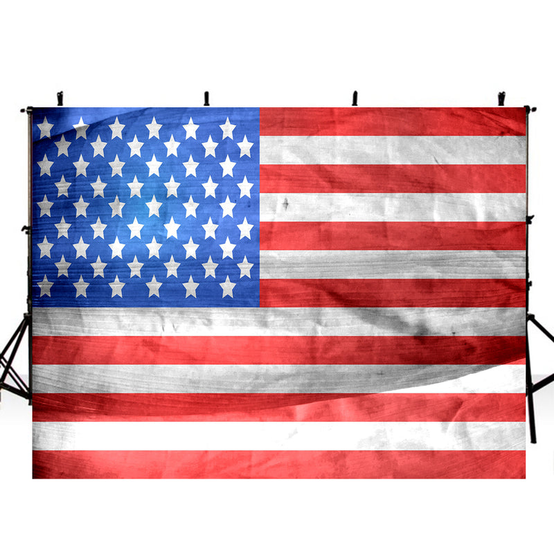 American flag photo backdrop July 4th photography background Independence Day photo booth props America flag banner photography backdrop theme Anniversary