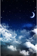 10ft Width-15ft High Night Sky Photography Backdrops Stars Moon Vinyl Photography for Backdrop for Baby Photo Backgrounds for Photo Studio
