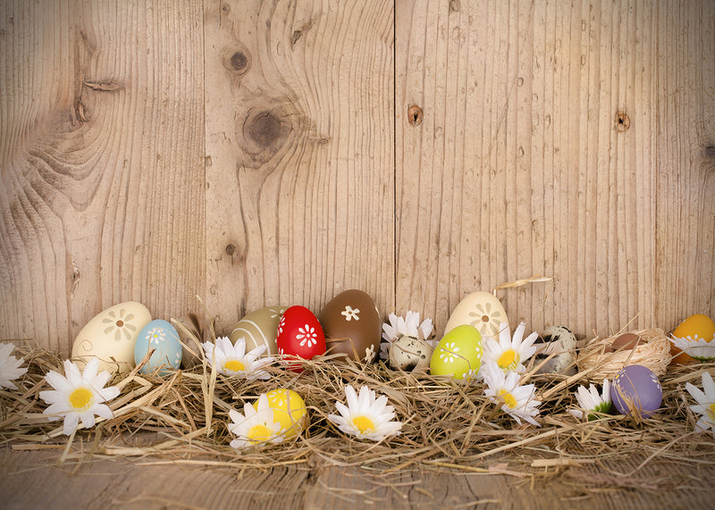 wood floor photo backdrop Easter eggs background for photography studio home party decor photo background video vinyl