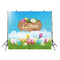 April spring scene photo backdrop happy Easter eggs background for photography studio home party decor photo background vinyl
